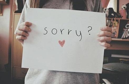 道歉的话要真诚